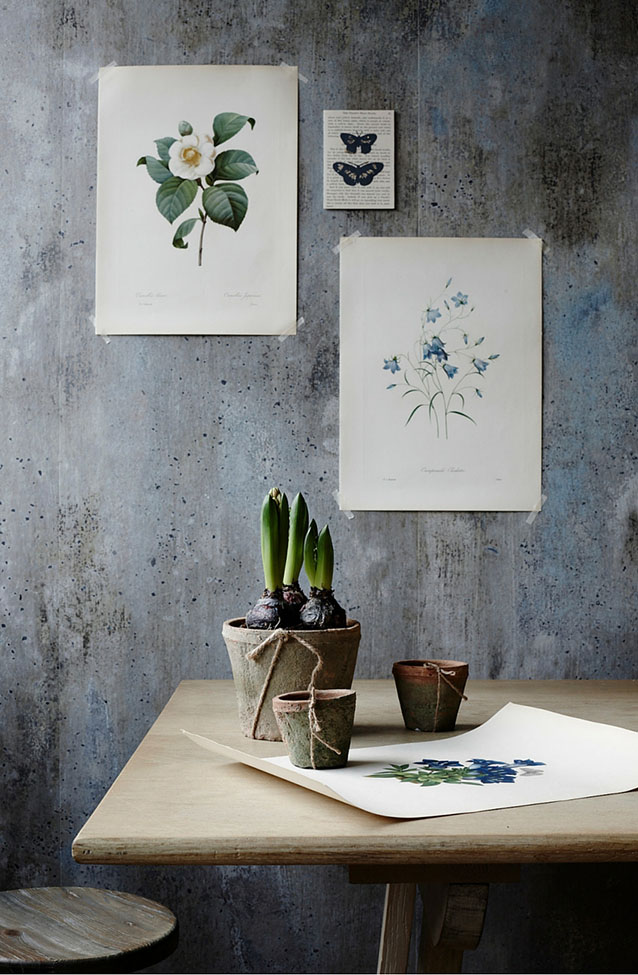 Botanical dining for Homestyle magazine,  styled by Pippa Jameson and photographed by Jo Henderson