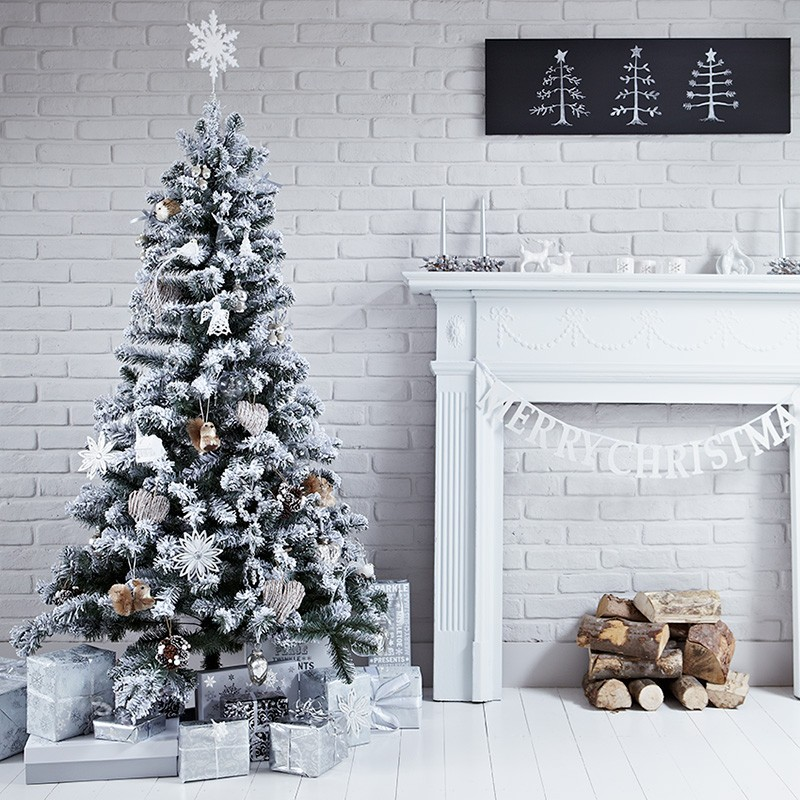 How to Style a white Christmas, Image styled by Pippa Jameson for George Home. Photographed by Jon Day