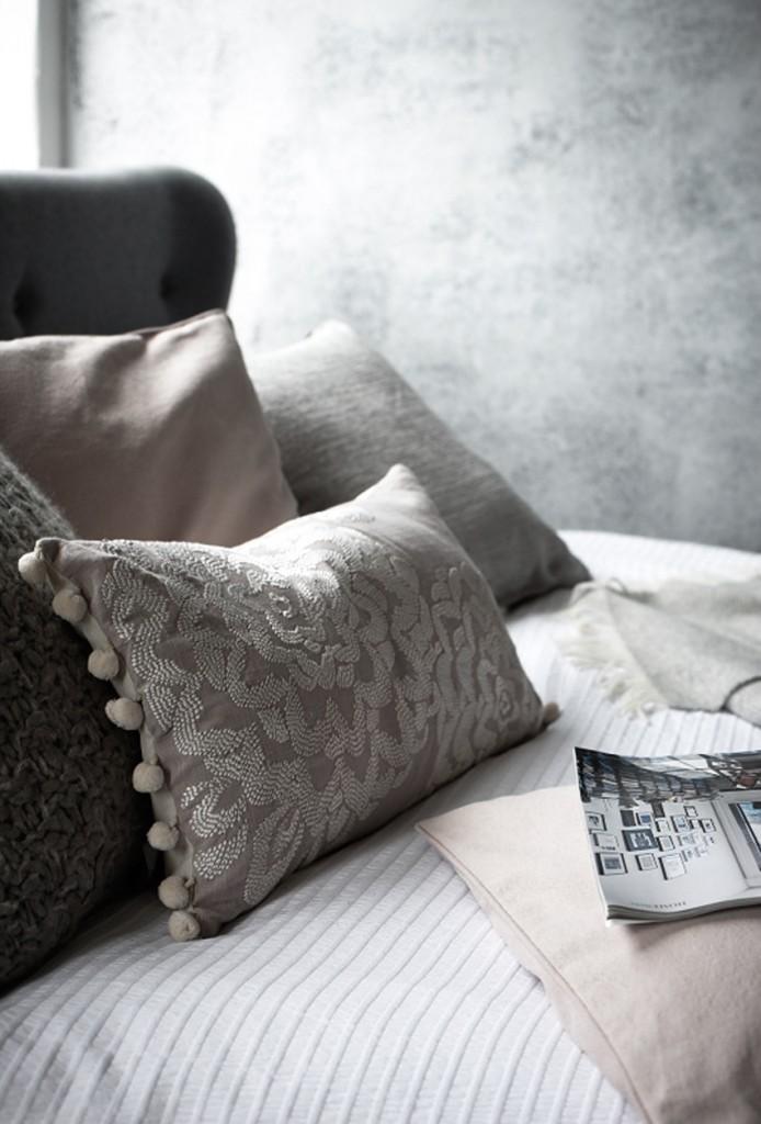 Homestyle bedroom, loft style bedrooms, warehouse bedroom, jo henderson, Homestyle magazine, neutral bedroom scheme, linen bedding