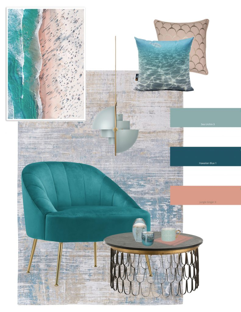 Leading London based Interior Stylist, Pippa Jameson, looks at Interior Trends for 2019. Here we look at Into the Blue coastal trends.