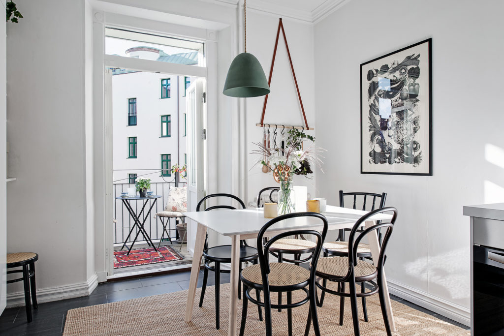 Scandinavian style apartment photographed by Fredrik J Karlsson