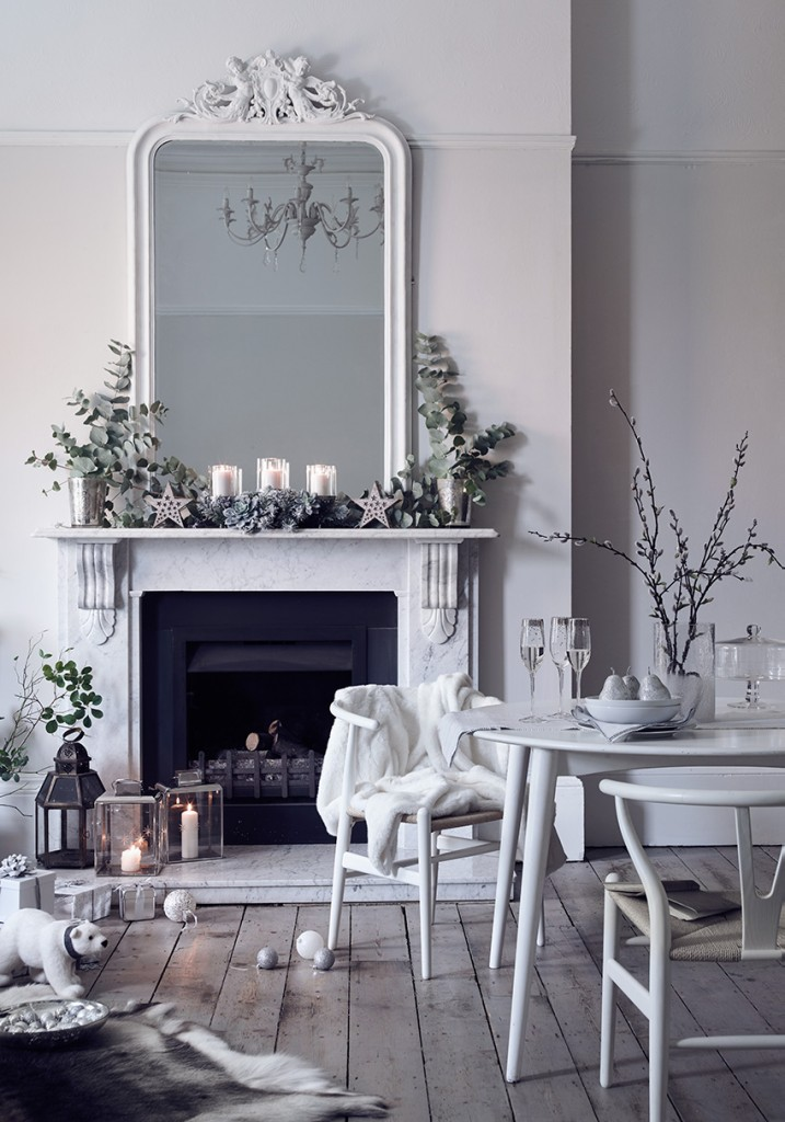 How to Style a white Christmas, Image styled by Pippa Jameson for Marie Claire and Sainsbury's. Shot by Simon Bevan