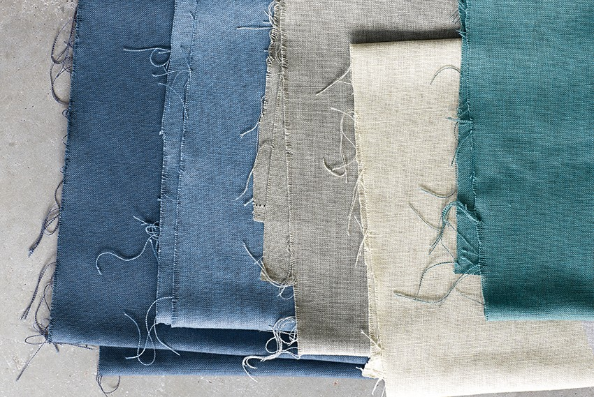 Cambay collection by Villa Nova showing on trend Dulux colour of Denim Drift