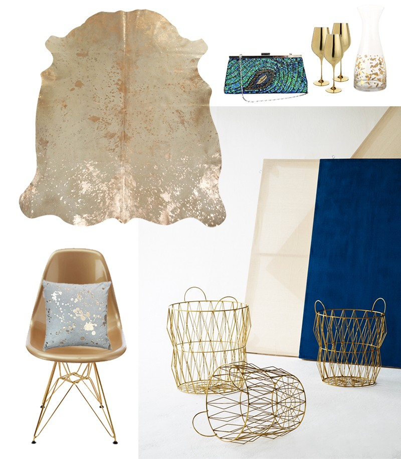 Interiors Trend watch: All that Glistens and Fluro Folk. Metallic interior trends for 2016 and 2017 by Pippa Jameson.