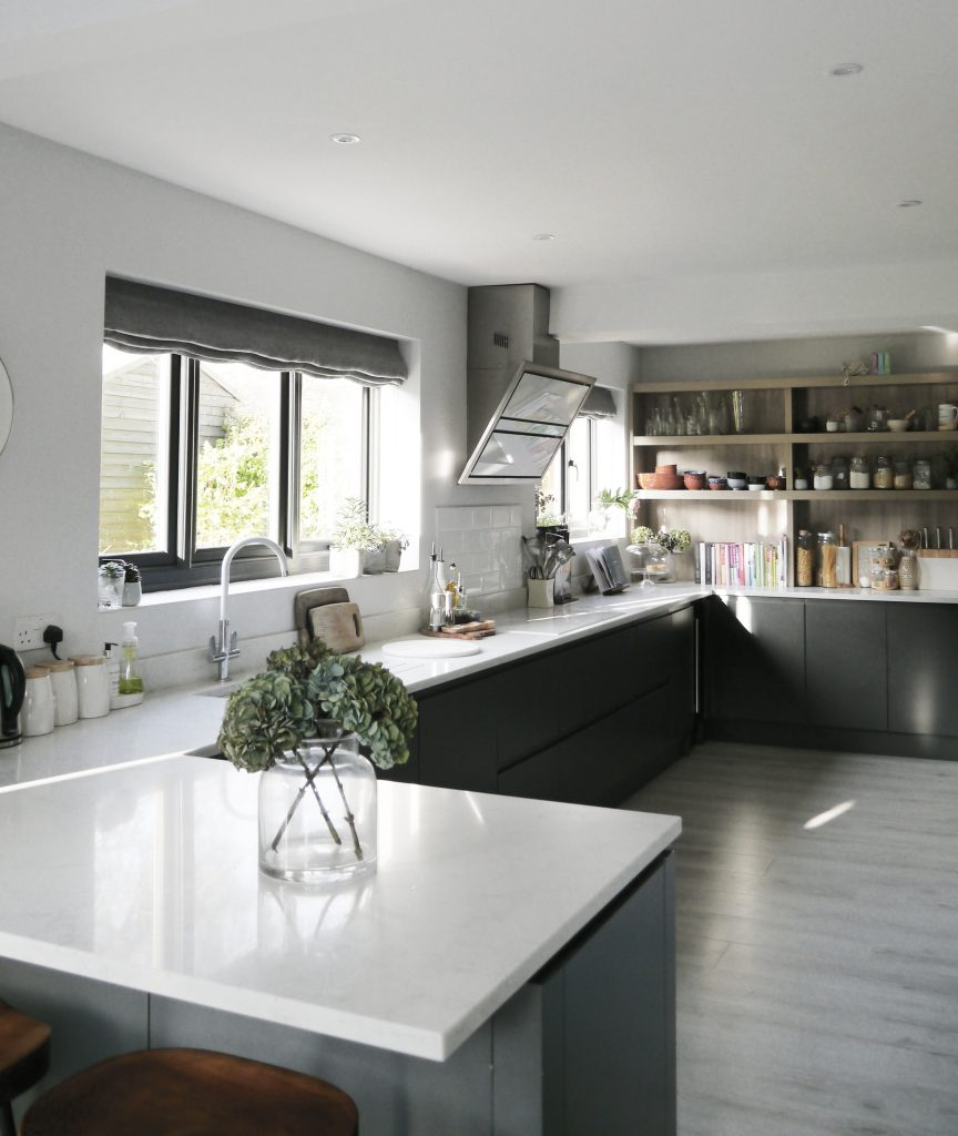 London based interior stylists kitchen using CRL Sone and Rock and Co