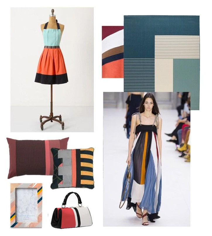 Bold stripes showing fashion and interiors trends for 2017