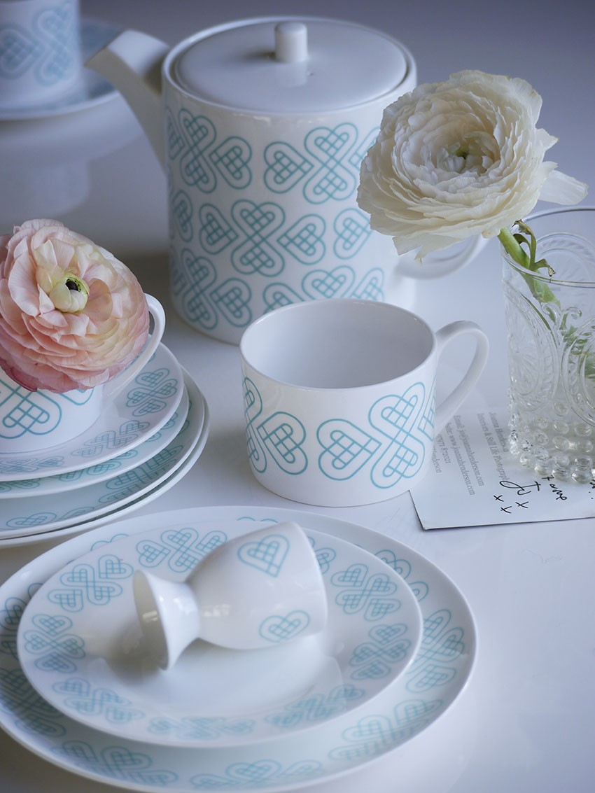 Pippa Jameson Interiors, Signature Range by Cordello Home, crockery, Blue and white china, valentines table styling