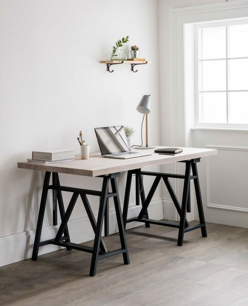 Top tips for working from home. Pippa Jameson Interiors talks about home office solutions.