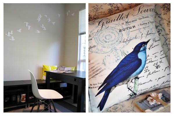 Birds in interiors, bird murals