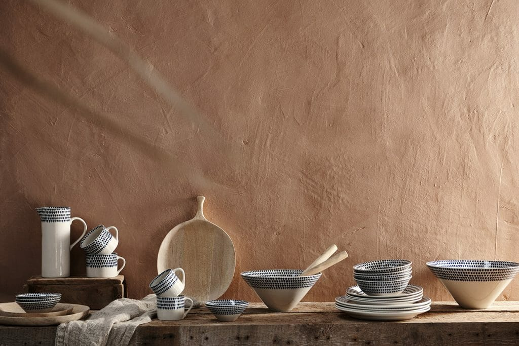 Design Storey launch: ceramics styled on a tabletop