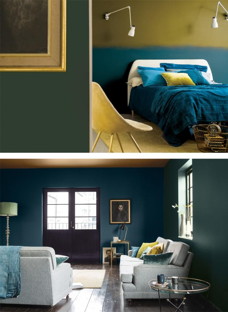 Dulux paint trends, colour trends 2016, Interior trends 2016, Trends 2016, Colour palettes, dark paints, blue paints, Colours